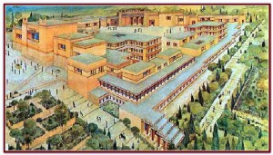 Artist rendering of the Palace at Knossos