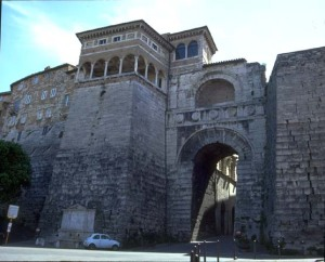 Porta Augusta, Perugia Italy.  Gate built during 2nd Century BC