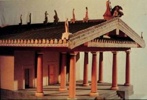 Model of an Etruscan temple